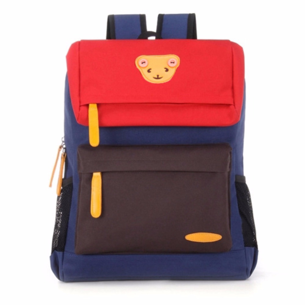 2018 Children School Bag Oxford Cartoon Bear Backpack Boy Gril Book bags Gift For Kids Travel Knapsack mochila escolar infantil