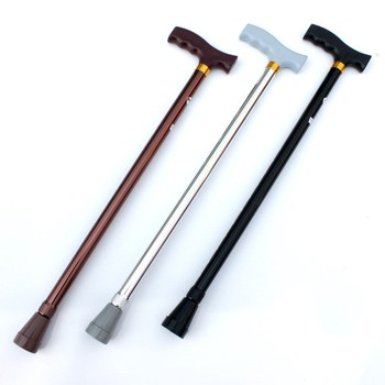 NEW 2018 Outdoor thick aluminum telescopic cane adjustable height old man walking stick slippery sticks eldery wandelstok anxiaokang safe reliable old man crutches non slip old man s stick telescopic four legged cane walking stick tips for elderly