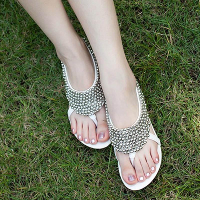 Sandalias Gran 83 Brillante Tamaño White Zapatos Casual Jardín doshCtrxQB