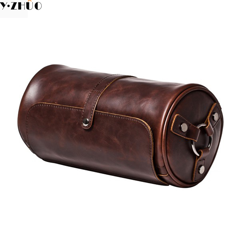 купить Crazy horse leather men shoulder bag vintage casual men messenger bags small brand man leather bag preppy style men travel bag по цене 1219.88 рублей
