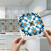 Funlife 20*20cm*10pcs/7.87*7.87inch* PVC Waterproof Self adhesive Wallpaper Kitchen Mediterranean Tile Sticker Wall Decal TS001