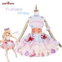 UWOWO Futaba Anzu Cosplay Game Anime THE IDOLM@STER CINDERELLA GIRLS Kawaii Pink Dress IDOLMASTER Costume Women