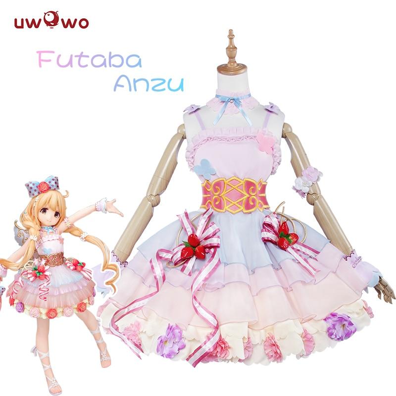UWOWO Futaba Anzu Cosplay jeu Anime l'idolm @ STER cendrillon filles Kawaii rose robe IDOLMASTER Costume femmes