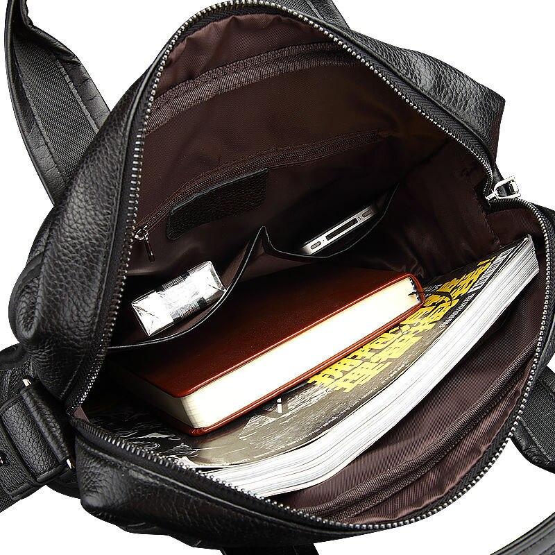 couro genuíno negócio pasta portátil Bag Size : W 27.5cm * H 32cm * T 9.5cm
