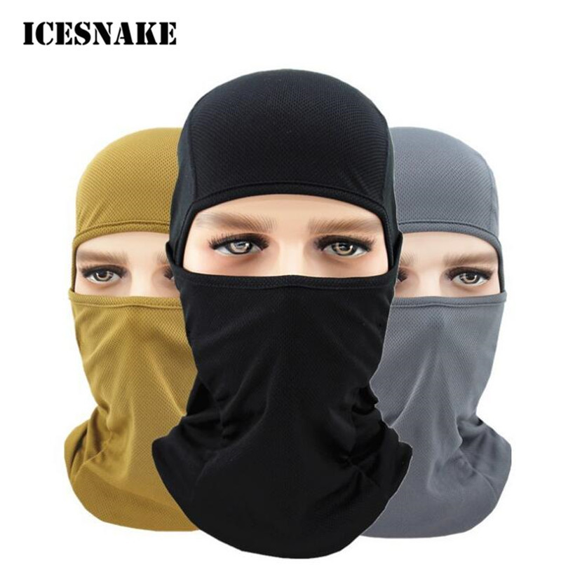 ICESNAKE Motorcycle Bicycle Army SUN Protection Helmet Full Face Mask Motorcycle Ski Cycling Windproof Mask Motorcycle Face Mask     - title=