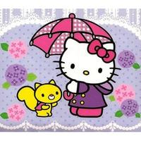 5d Diy Diamond Painting Hello Kitty Cat In Raining Full Diamond Embroidery Painting Kits For Improve