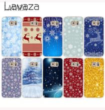 Lavaza 1027GE Hard Case Cover for Samsung Galaxy S6 S7 Edge S8 Plus S2 S3 S4 S5 Mini Merry Christmas Retro snow flake CASE
