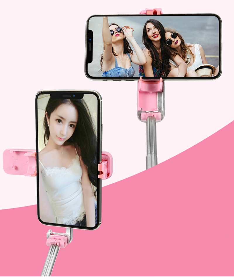 Portable Mini Bluetooth Selfie Stick Monopod With Phone Holder Selfie stick Bluetooth for iPhone 7 8 Xiaomi Samsung Smartphone