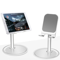 Universal Aluminium Stand Desk Holder For Xiaomi Mobile Phone Holder For iPhone Metal Tablets Stand For ipad Microsoft surface|Tablet Stands| |  -