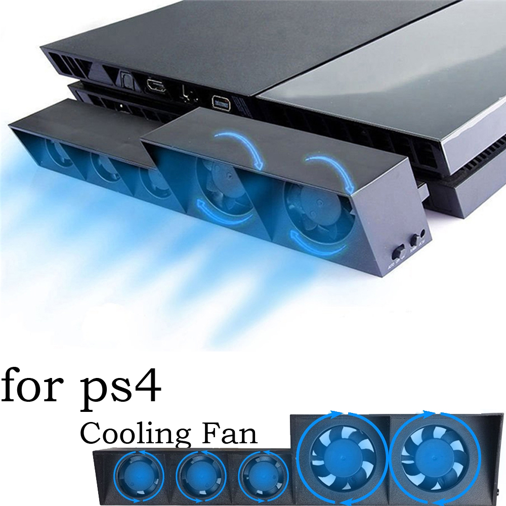 USB Cooling Fan For PS4 Sony Playstation 4 Console Host Cooler External Turbo Temperature Fan for PS 4 Playstation4 Accessories