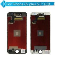 3d táctil para apple iphone 6 s plus pantalla lcd táctil digitalizador asamblea negro blanco 5.5 pulgadas