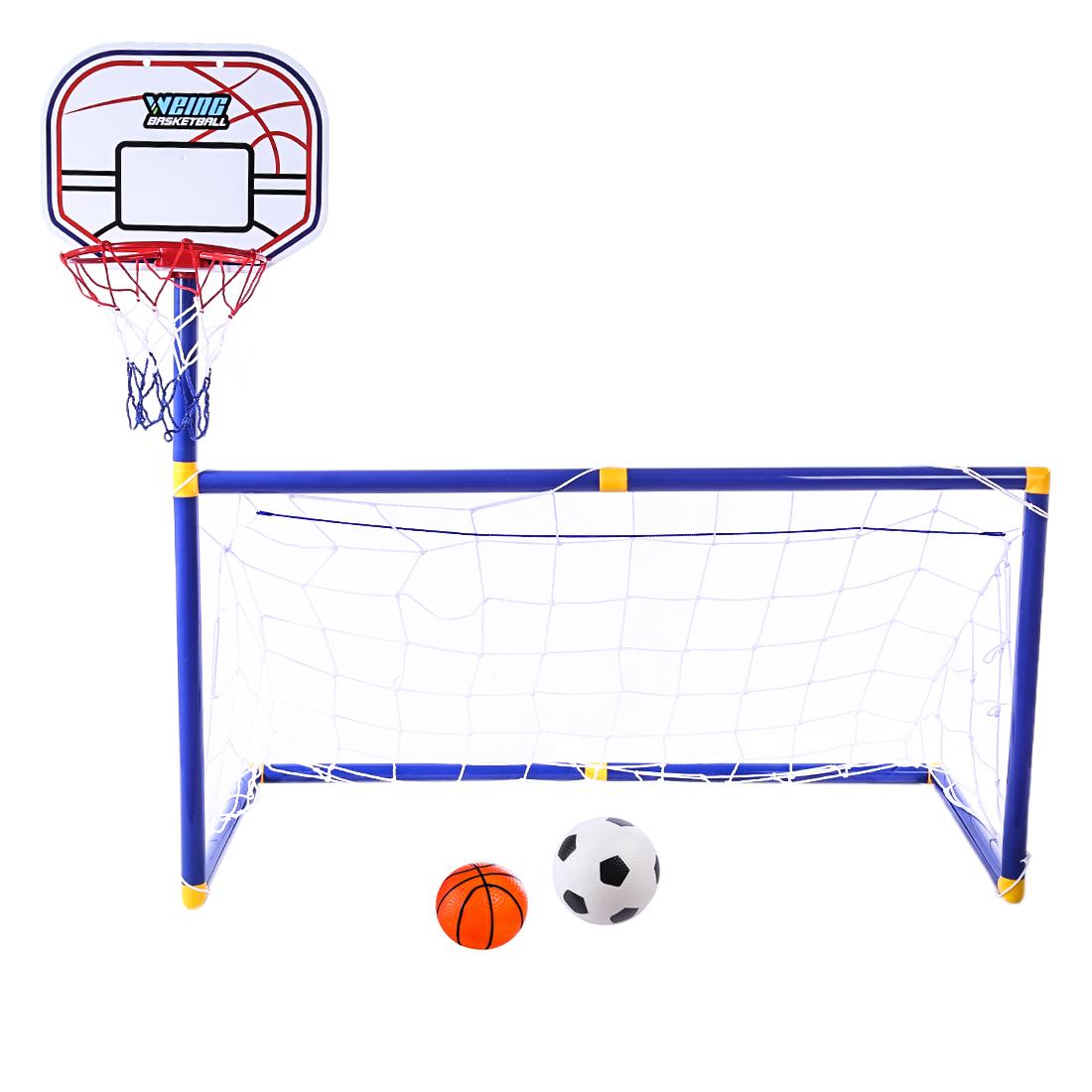 2 in 1 Children Sports Equipment Football Goal Basketball Stands for Kids Outdoor Toy Sports For Children - ZG270-30(China)