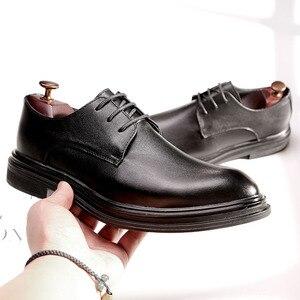 Image 2 - DESAI 靴男性韓国のファッションとんがりカジュアル紳士靴春夏秋冬レザーシューズビジネス予告なく変更、削除