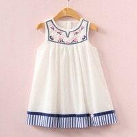 2017 Summer Girls Dress Embroidery Dress For Kids Clothes Fashion Dresses Princess Children Summer Vestidos