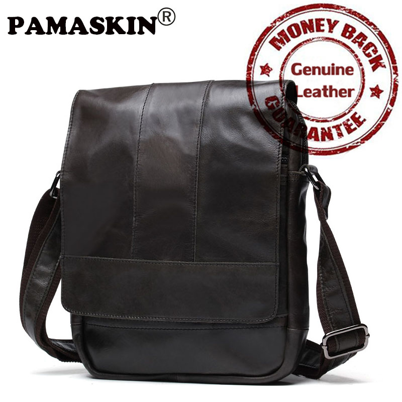 PAMASKIN 2018 Multi-function Cross-body Bag Cover Simple Vintage Shoulder Top Layer Of Leather Bag Casual Messenger Bag For Gift qiaobao 2018 new korean version of the first layer of women s leather packet messenger bag female shoulder diagonal cross bag