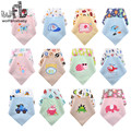 6pcs/lot bibs Cotton waterproof Baby Boys Girls Saliva Towel cartoon handkerchief Infant scarf baberos accessories