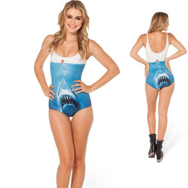 Shark Vs Mermaid Swimming Costume Bodysuit Milk Black Little Jaws