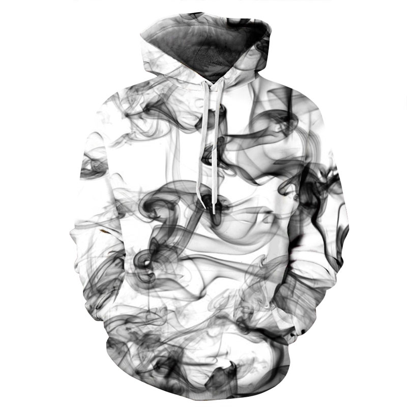 Mr.1991INC Nuovi Uomini di Modo/Donne 3d Felpe Stampa Acquerello Dreamy Fumo Linee di Stile Sottile Autunno Inverno Con Cappuccio Felpe Con Cappuccio