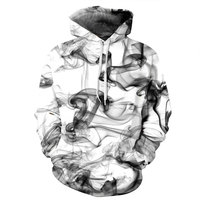 Mr 1991INC New Fashion Men Women 3d Sweatshirts Print Watercolor Dreamy Smoke Lines Thin Style Autumn