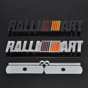 Car Grill Emblem Auto Front Grille Badge For Mitsubishi Ralliart Logo Lancer Asx
