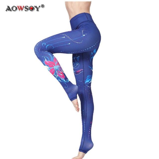3e0a289e3483f7 Aowsoy Yoga Pants Women Unique Fitness Leggings Workout Sports Running  Leggings Sexy Push Up Gym Wear Elastic Slim Pants