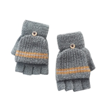 Kids Patchwork Fingerless Gloves