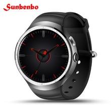 "Sunbenbo Z10 Android 5.1 Akıllı İzle 1 GB 16 GB MTK6580 Quad Core 1.39 ""400*400 WIFI GPS Android iOS Için SIM telefonu Ile Smartwatch"