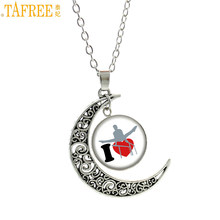 TAFREE brand novelty charm men women Gymnastics pendant chain necklace beauty rainbow color Love Gym sports choker jewelry SP121(China)