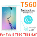 """100pcs DHL Toughened Tempered Glass For Samsung Galaxy Tab E T560 T561 9.6"""" Film Explosion-Proof Clear Screen Protect Cover"""