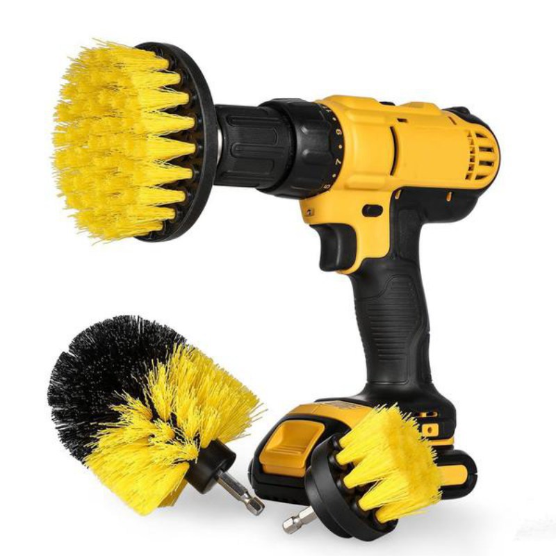 3 pcs Power Scrubber Brush Drill Brush Clean for Bathroom Surfaces Tub Shower Tile Grout Cordless Power Cleaning Kit Drop ship