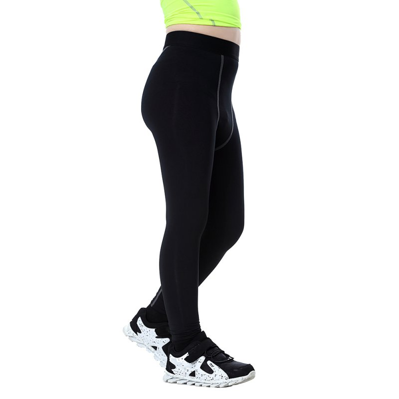 Quick Dry Boys Compression Elastic Waist Pants Skinny Sports Shorts Polyester Running Sports Cycling Pants