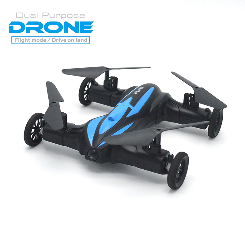 ФОТО New Racing 4WD RC Flying Car Drone  Quadcopter with 2.4G 8CH 6Axis 2-In-1 drone Land/Sky Remote Control Toy RTF VS SYMA X9 X25