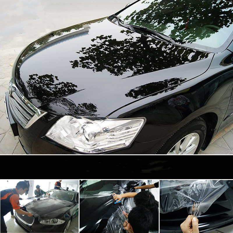 Image 3 - 20cm x 1/2/3/5M Rhino Skin Sticker Protection Film Vinyl Clear Transparence Anti dirty Film For Auto Car Bumper Hood Paint Decal-in Car Stickers from Automobiles & Motorcycles