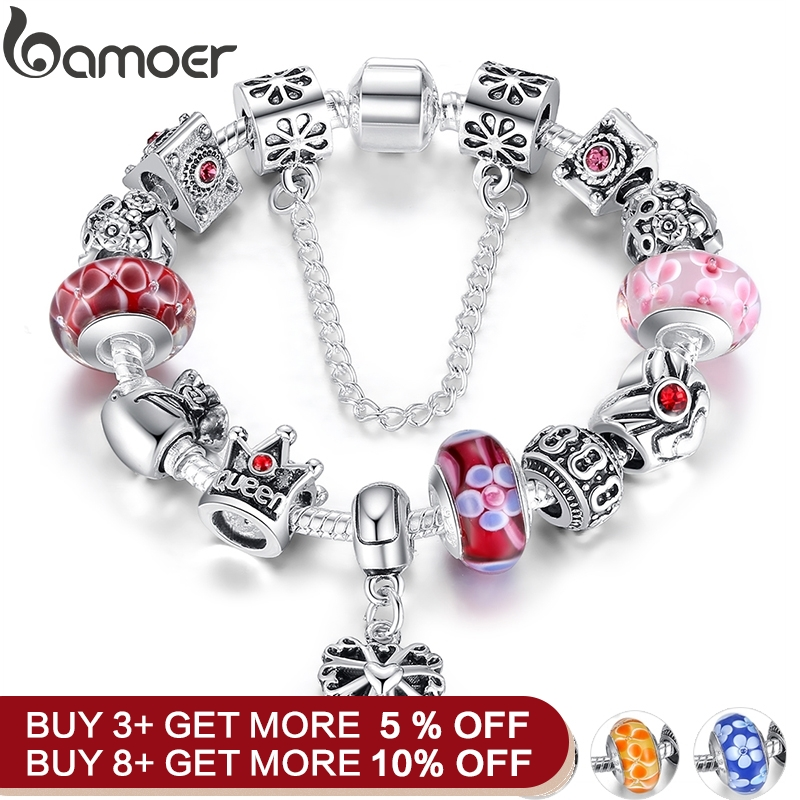 45768e4881860 Hot Sale] CUTEECO 925 Fashion Silver Charms Bracelet Bangle For ...