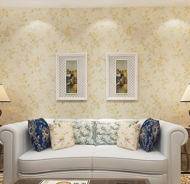 Floral vintage chino del papel pintado 3d en relieve flor - Papel pintado aislante termico ...