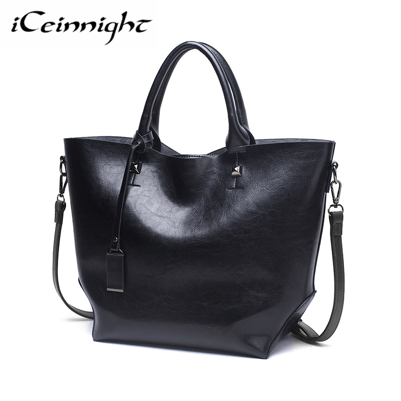 iCeinnight Fashion Women PU Handbags Brands Women Shoulder Bags Designer High Quality Top-handle Women Tote Bags bolsa feminina chispaulo women genuine leather handbags cowhide patent famous brands designer handbags high quality tote bag bolsa tassel c165