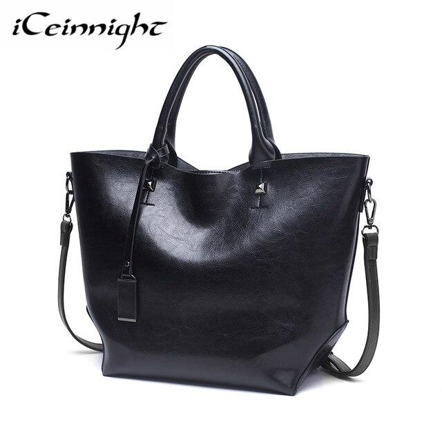 Iceinnight Fashion Women Pu Handbags Brands Shoulder Bags Designer High Quality Top Handle