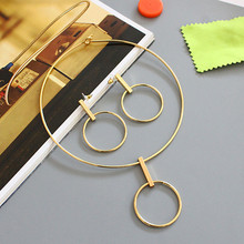 High pure copper mass cos metal style elegant temperament collar necklace earrings set of accessories wholesale