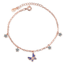 LUKENI New Fashion Rose Gold Female Bracelets Jewelry Top Quality Crystal Butterfly For Girl Lady Christmas Lover Gift