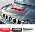 NEW Car Styling ABS Air Flow Intake Hood Scoop Vent Bonnet Cover Hood Chrome/Red/Black for SUZUKI Jimny  car styling
