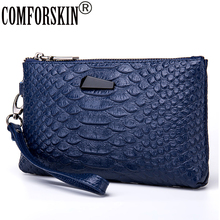 New Arrival Fashion Split  Leather Long Retro Alligator Clutch Wallets High-end Market Large Capacity Practical Card Wallet