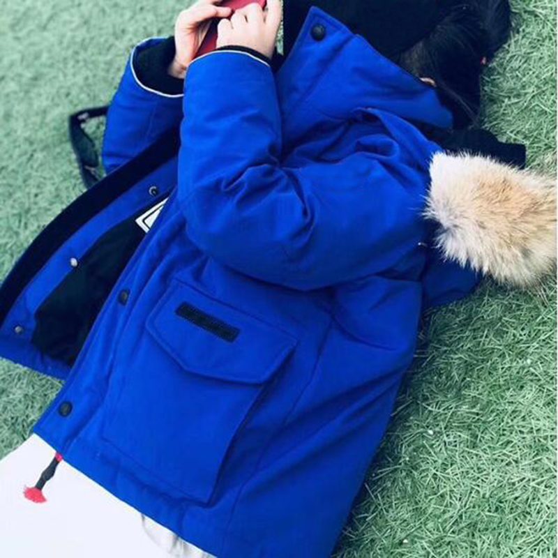 Kid Winter Jacket New 2018 Fashion Winter Down Jackets Fur Children Coats Warm Baby Thick Kids Outerwear in end of Sep new sep