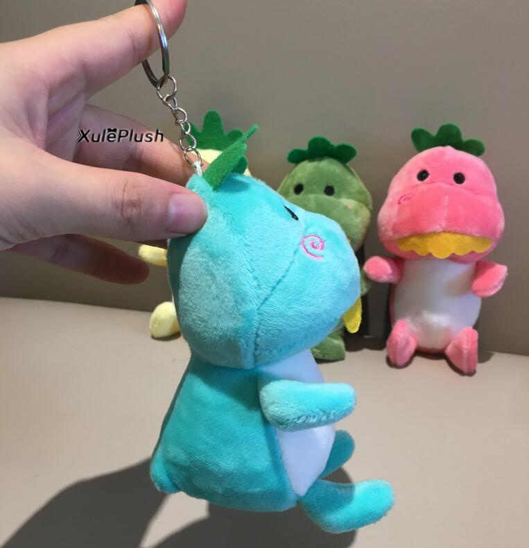 Kawaii 4Colors-Brinquedo Dragão, 12 cm Super Animal Bonito Dragão de pelúcia brinquedo de pelúcia, anel chave kawaii brinquedo de pelúcia