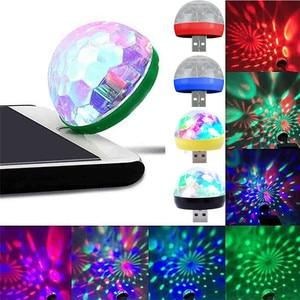Image 2 - Mini usb led festa noite luz cor mudou por som música mágica luzes cogumelo bola efeito mágico lâmpada luz de discoteca 2 plugues d #3