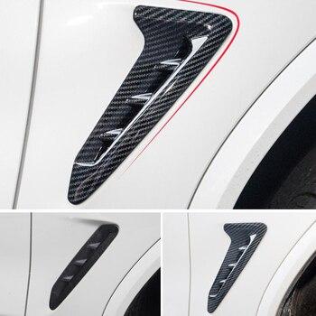 Para BMW X3 2018 pcs 2 Emblema Do Carro Emblema Adesivos Corpo Da Lâmina Tampa Fender Guarnição Moldings Car Styling Acessórios Auto