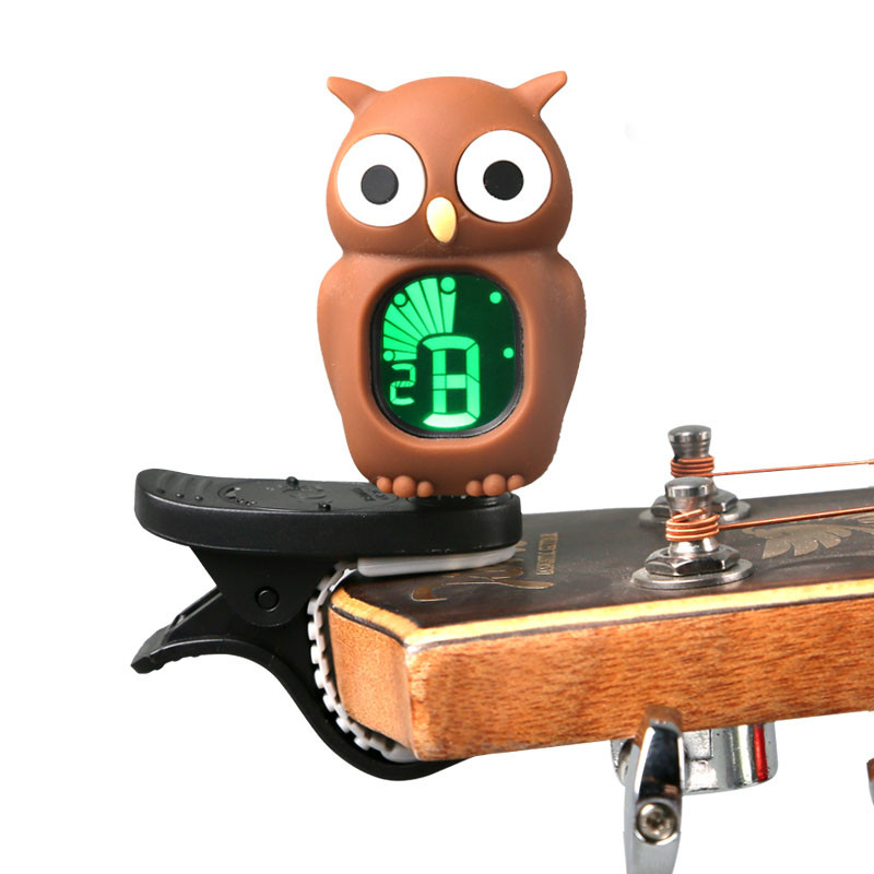 sooo cute owl guitar tuner bass tuner clip on electric chromatic ukulele tuner violin tuner in. Black Bedroom Furniture Sets. Home Design Ideas