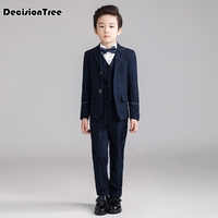2019 new boys suits for weddings kids prom suits black white wedding suits for boys tuxedo children clothing set boy formal cost