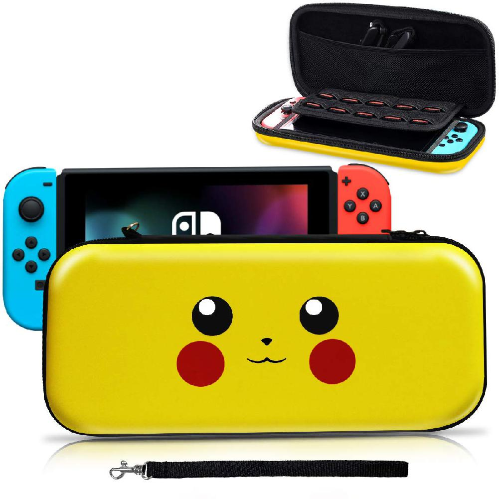 EastVita Cute Cartoon Portable Hard Shell Case For Nintend Switch Water-resistent EVA Carrying Storage Bag For NS Console