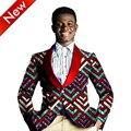Mens Ropa Hombres Blazer Casual Suit Algodón Africano Dashiki Hombres Chaqueta blazer Slim Fit Marca de Ropa Bazin Ricos WYN238