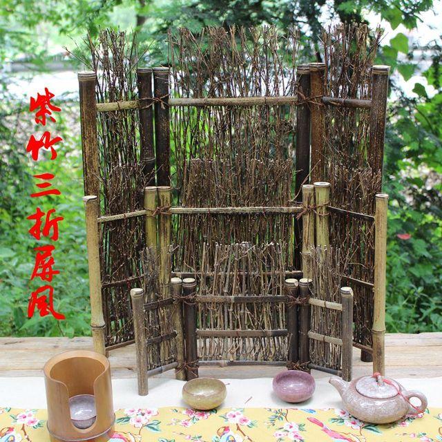 Bambus Gewebt Bambus Zaun Mit Null Bildschirm Kleine Tee